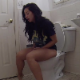 A pretty Hispanic girl records herself shitting while sitting on a toilet. Audible pooping sounds. Presented in 720P HD. Over 4.5 minutes.